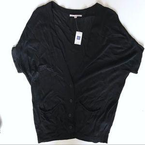 Gap black short sleeve cardigan